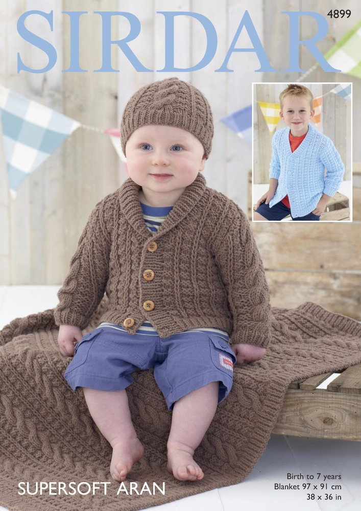 b71fa8a58 Sirdar 4899 Knitting Pattern Baby and Child Cardigans Hat and ...