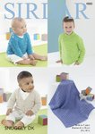 Sirdar 4880 Knitting Pattern Baby and Child Sweaters Cardigan and Blanket in Sirdar Snuggly DK