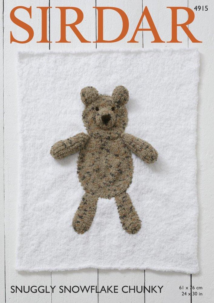 Sirdar 4915 Knitting Pattern Bear And Cat Animal Blankets In Sirdar