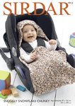 Sirdar 4912 Knitting Pattern Baby Car Seat Blanket in Sirdar Snuggly Snowflake Chunky