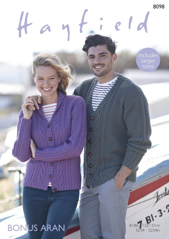 Sirdar 8098 Knitting Pattern Womens Mens V Neck And Shawl Collar