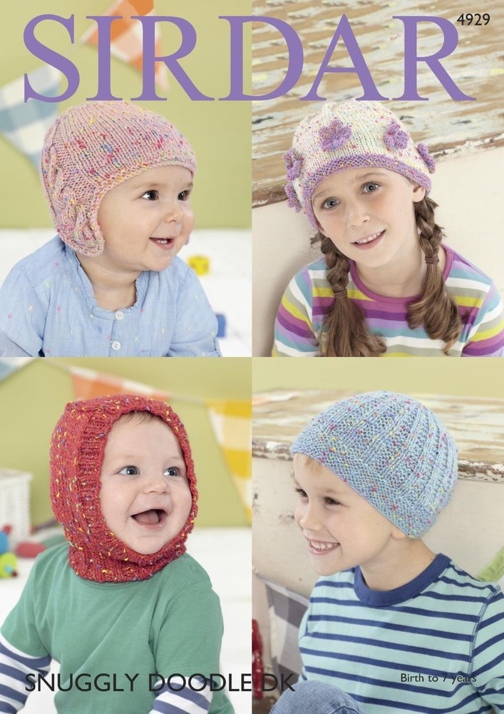 Sirdar 4929 Knitting Pattern Baby and Childrens Hats in Sirdar ...