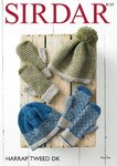 Sirdar 8107 Kntiting Pattern Womens Pull On Hats and Mittens in Sirdar Harrap Tweed DK