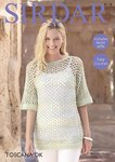 Sirdar 8118 Crochet Pattern Womens Easy Crochet Top in Sirdar Toscana DK