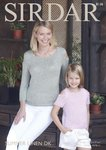 Sirdar 8136 Knitting Pattern Girls Womens Open Shoulder Tops in Sirdar Summer Linen DK