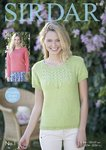 Sirdar 8128 Knitting Pattern Womens Long and Short Sleeved Tops in Sirdar No. 1 DK