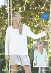 Sirdar 8141 Knitting Pattern Womens Long Sleeved and 3/4 Sleeved Tops in Hayfield Sundance DK