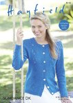 Sirdar 8142 Knitting Pattern Womens Cabled Cardigan in Hayfield Sundance DK