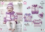 King Cole 5137 Knitting Pattern Baby Child Cardigan Coat Tunic and Hat in King Cole DK