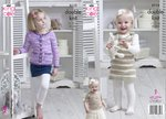 King Cole 5113 Knitting Pattern Baby Girls Cardigan Dress Top in Comfort and Comfort Kids DK