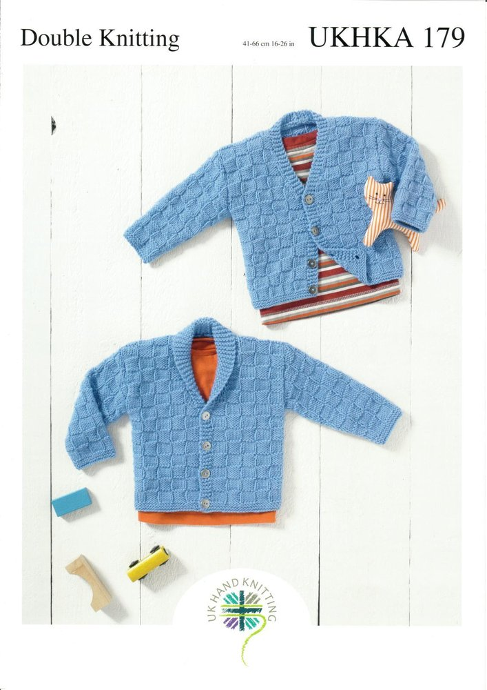 7d5ad1344325 UKHKA 179 Knitting Pattern Baby and Childrens Cardigans in DK - Athenbys