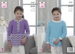 King Cole 5157 Knitting Pattern Girls Sweaters in Comfort Aran