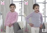 King Cole 5156 Knitting Pattern Girls Cardigan & Sweater In Comfort Aran