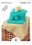 UKHKA 186 Crochet Pattern Baby Crochet Blanket and Bootees in DK
