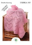 UKHKA 185 Crochet Pattern Baby Crochet Heart Blanket and Bootees in DK