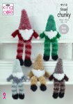 King Cole 9113 Knitting Pattern Tinsel Gnomes in Tinsel Chunky