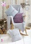 King Cole 5182 Knitting Pattern Blanket and Cushions in King Cole Timeless Chunky