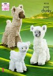 King Cole 9115 Knitting Pattern Alpaca Toys in King Cole Tufty & Big Value Chunky