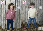 King Cole 5347 Knitting Pattern Childrens Sweater and Cardigan in King Cole Fashion Aran