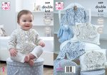 King Cole 5439 Knitting Pattern Baby Easy Lace Raglan Cardigans in King Cole Cherish Dash DK