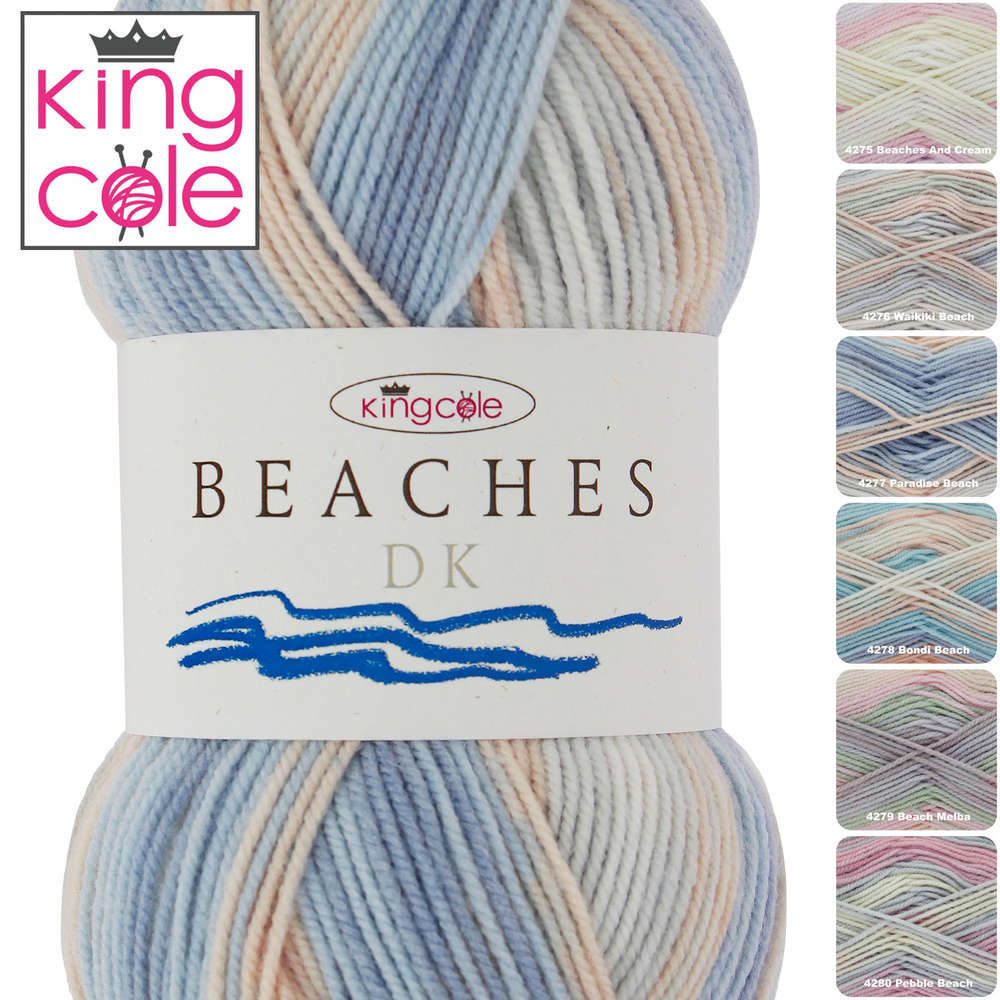 King Cole Beaches Double Knitting Yarn Shade 4280 Pebble Beach