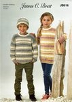 James C Brett JB616 Knitting Pattern Childrens Sweater Tunic Hat and Cowl in Driftwood DK
