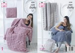 King Cole 5339 Knitting Pattern Blanket and Cushions in King Cole Big Value Super Chunky