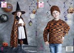 King Cole 5399 Knitting Pattern Childrens Halloween Witches Cape Set and Pumpkin in Glitz DK
