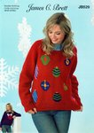 James C Brett JB529 Knitting Pattern Womens Bauble Sweater in James C Brett Top Value DK