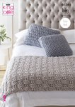 King Cole 5534 Knitting Pattern Easy Knit Bed Runner and Cushions in King Cole Big Value Big