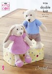 King Cole 9126 Crochet Pattern Bear and Rabbit Toys in King Cole Cottonsoft DK