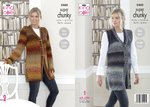 King Cole 5460 Knitting Pattern Womens Cardigan and Waistcoat in King Cole Explorer Super Chunky