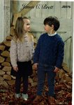 James C Brett JB576 Knitting Pattern Childrens Cardigan and Sweater in James C Brett Rustic Aran