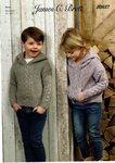 James C Brett JB627 Knitting Pattern Childrens Hooded Sweater in Rustic or Aztec Aran