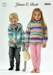 James C Brett JB629 Knitting Pattern Childrens Hooded Jacket and Sweater in Party Time Chunky