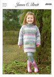 James C Brett JB499 Knitting Pattern Childrens Sweater in James C Brett Marble Chunky